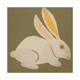 Brown bunny canvas print