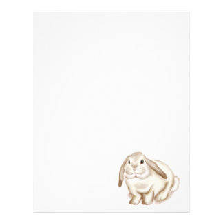 Brown Bunny Watercolor Letterhead