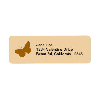 Brown Butterfly Address Labels