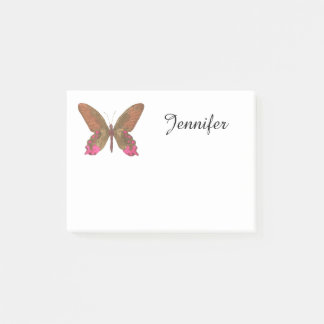 Brown Butterfly Post-it Notes