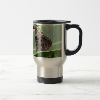 Brown Butterfly Travel Mug