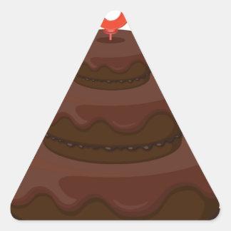 brown cake triangle sticker