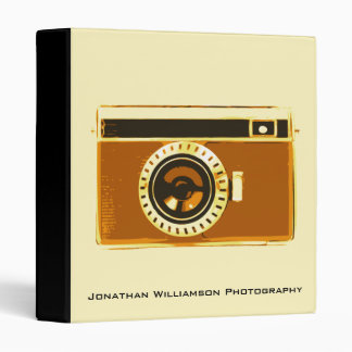 Brown Camera Photography Business Binder