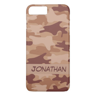 Brown Camo Camouflage Name Personalized iPhone 8 Plus/7 Plus Case