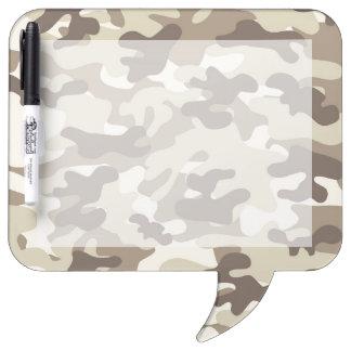 Brown Camo Design Dry Erase Whiteboards