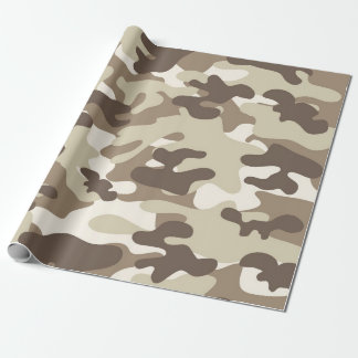 Brown Camo Design Wrapping Paper