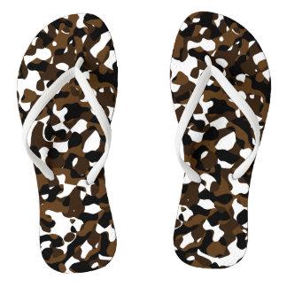 Brown Camo Flip Flops