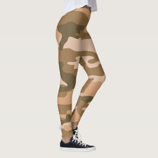Brown Camo Leggings / military camouflage