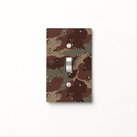 Brown Camo Light Switch Cover