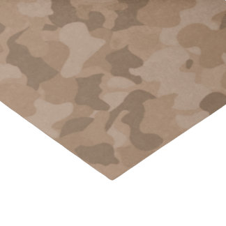 Brown camo pattern baby boy tissue paper