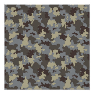 Brown camo perfect poster