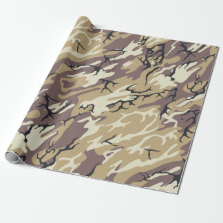 Brown Camo Wrapping Paper