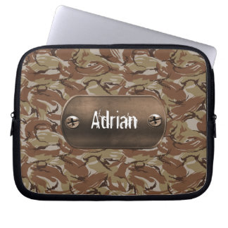 brown  camouflage army laptop computer sleeves