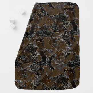 Brown Camouflage Baby Blanket