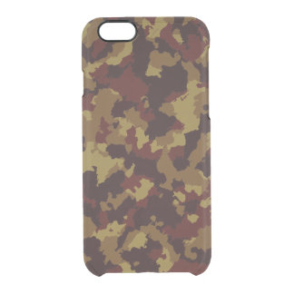 Brown Camouflage Clear iPhone 6/6S Case