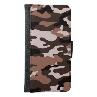 Brown camouflage Galaxy S6 Wallet Case