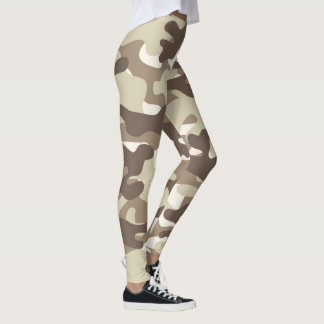 Brown Camouflage Leggings