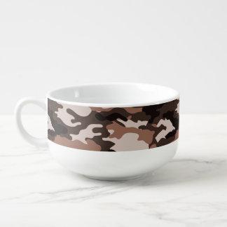 Brown Camouflage Pattern Soup Mug