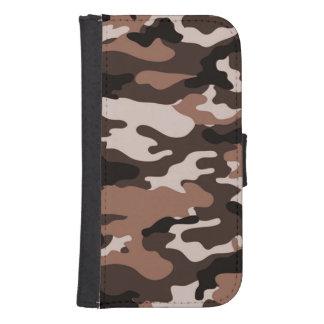 Brown camouflage Samsung Galaxy S4 Wallet Case
