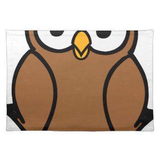 Brown Cartoon Owl Placemat