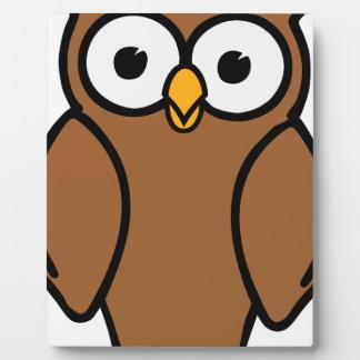 Brown Cartoon Owl Plaque