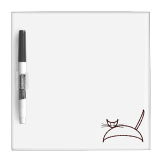 Brown cat board Dry-Erase whiteboards