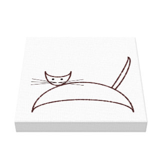 Brown cat canvas gallery wrap canvas