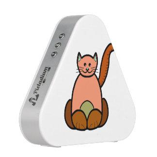 Brown cat cartoon blueooth speaker