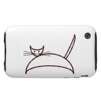 Brown cat case iPhone 3 tough covers