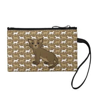 brown cat coin purse