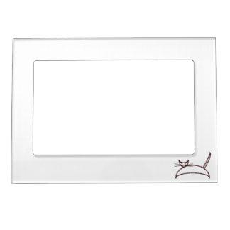 Brown cat frame picture frame magnet