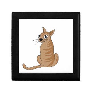 Brown cat gift box