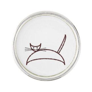 Brown cat lapel pin