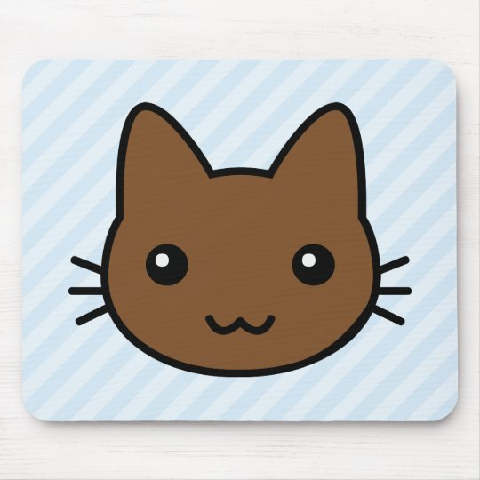brown cat mouse pad