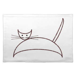 Brown cat placemat