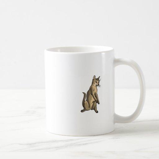 Brown Cat Sitting Coffee Mug