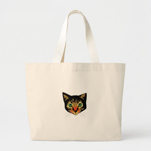 Brown Cat with Green Eyes Tote Bag