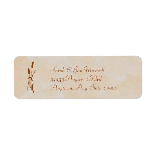 Brown Cattail Return Address Label