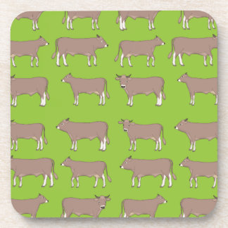 brown cattle coaster