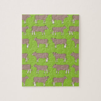 brown cattle jigsaw puzzle