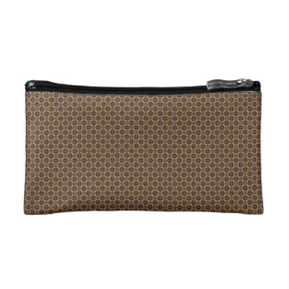 Brown Check Cosmetic Case