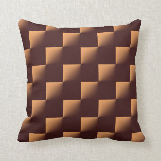 Brown Checkered Pattern Throw Pillow