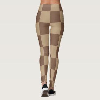 Brown Checkies Leggings