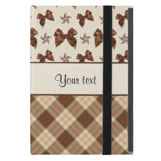 Brown Checks & Beautiful Bows Cases For iPad Mini
