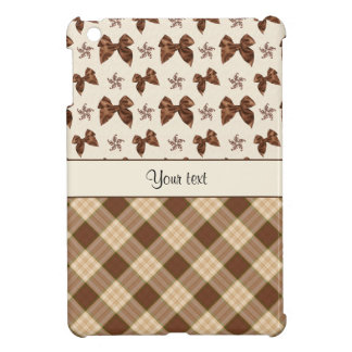 Brown Checks & Beautiful Bows iPad Mini Cases