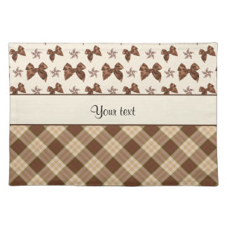 Brown Checks & Beautiful Bows Placemat