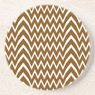 Brown Chevron Illusion Coaster