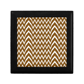 Brown Chevron Illusion Gift Box