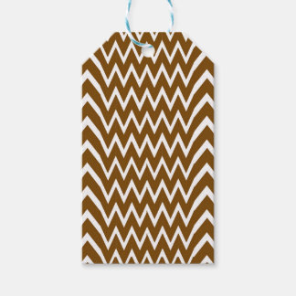 Brown Chevron Illusion Gift Tags