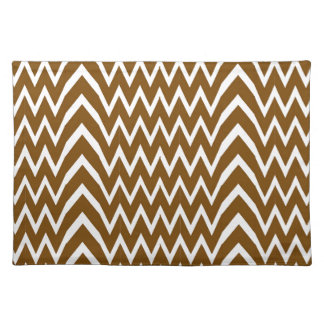 Brown Chevron Illusion Placemat